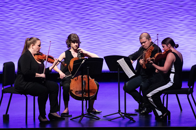 four female chamber music musicians