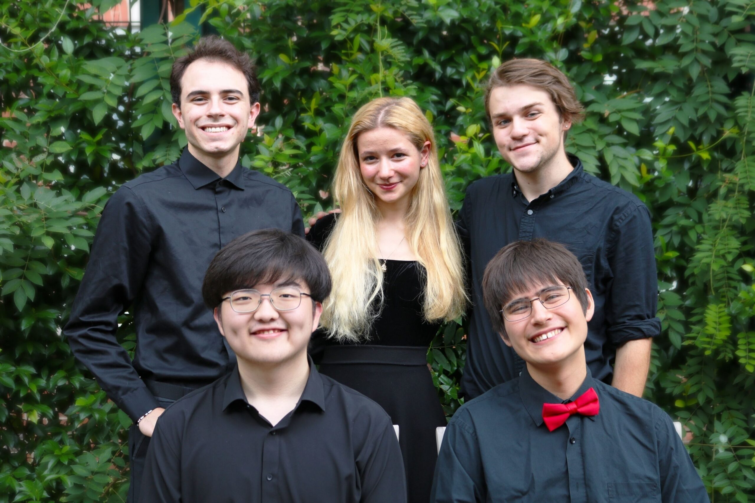 five EMF young musicians in group photo